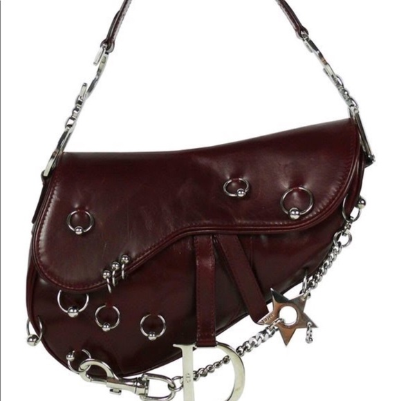 f7ed25d1cff7 Dior Handbags - RARE CHRISTIAN DIOR Hardcore Pierced Saddle Bag